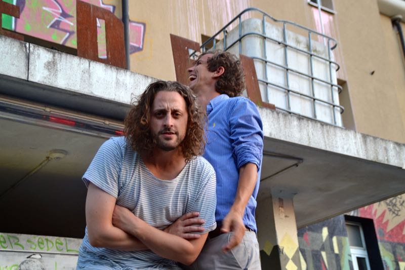 Peter «Pidi» Steger (rechts) und Martin Fischer von Huck Finn vor dem Sedel.