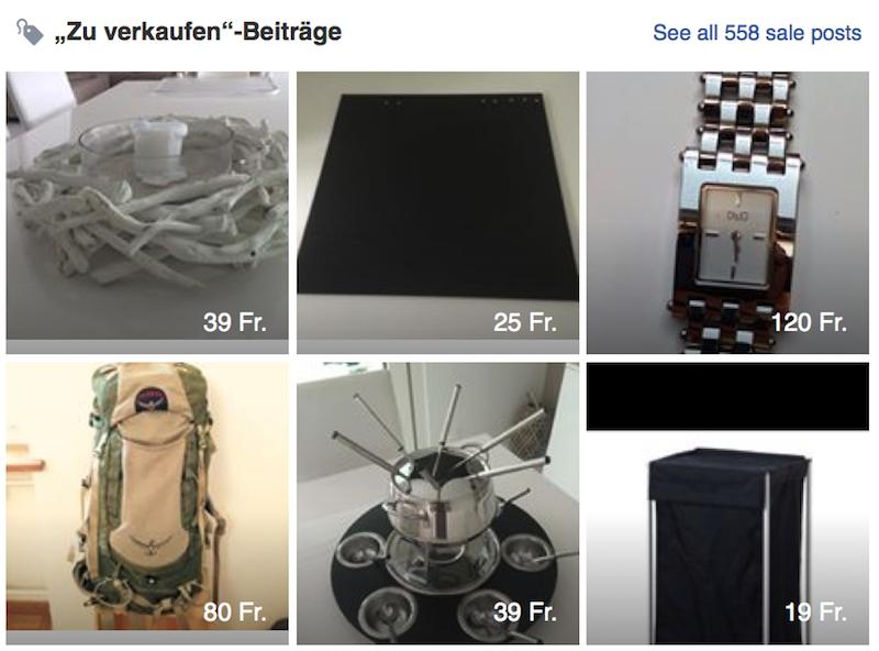 Uhren, Rucksäcke oder Fonduerechauds. Diverse Gegenstände suchen einen neuen Eigentümer.