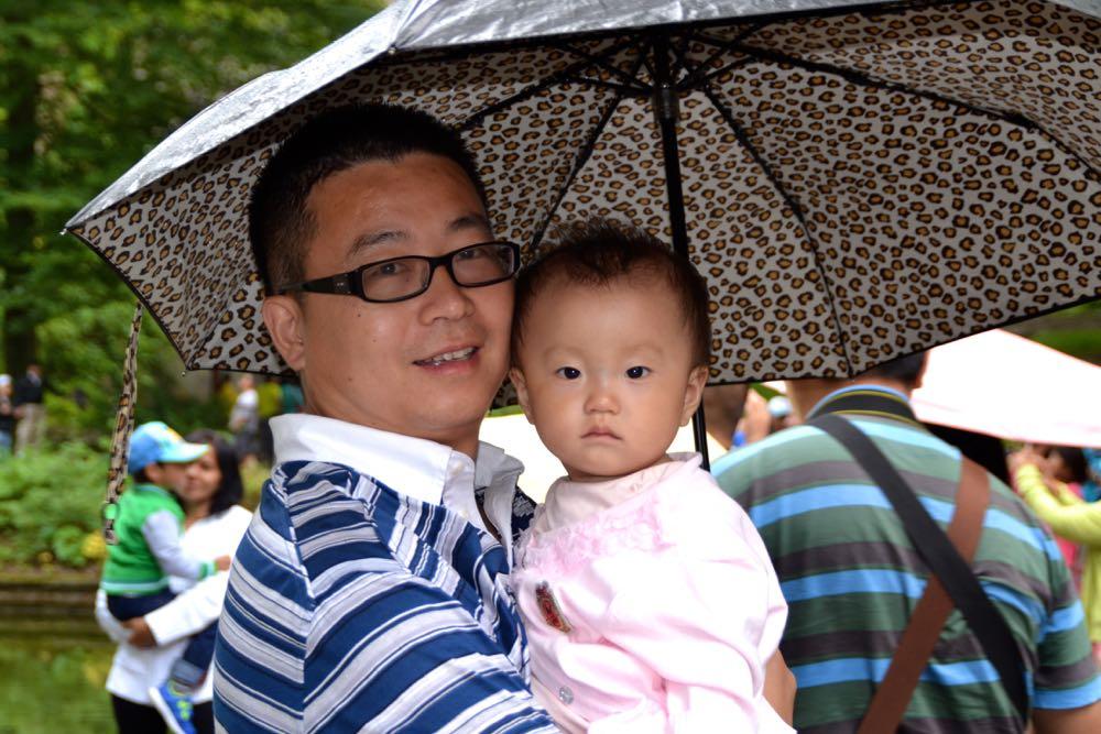 Chang Lee und Töchterchen Lin Na aus Shanghai.