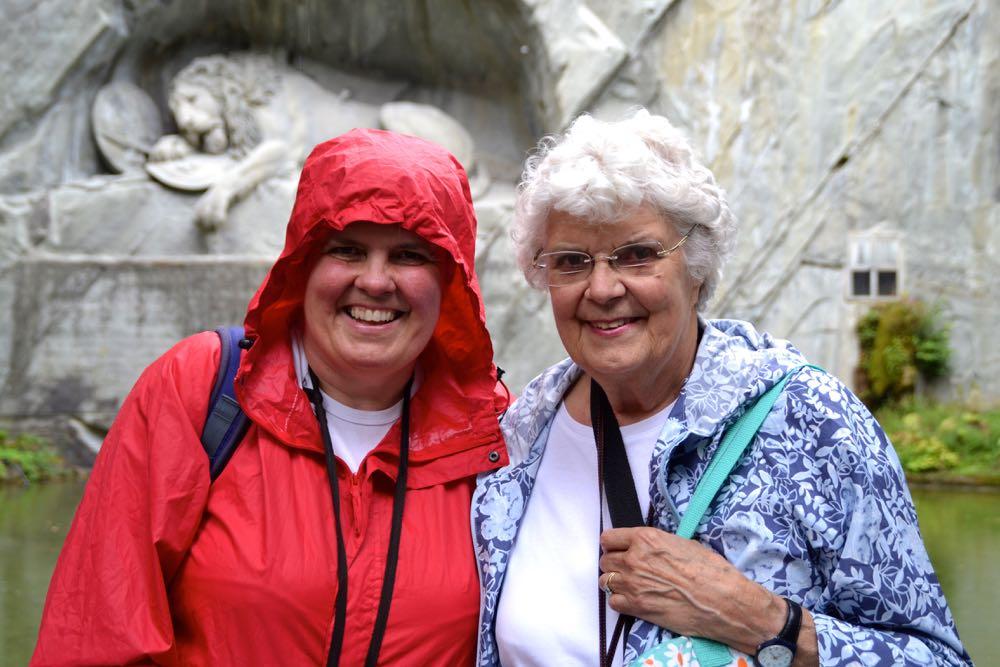 Zwei reizende Damen aus England: Lesley und Hilda Nunn (v.l.)