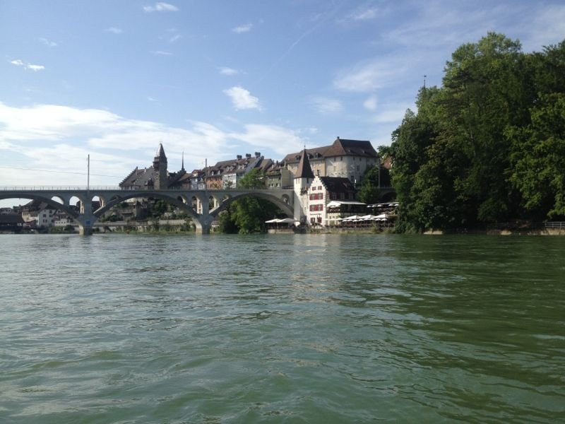 Hier befindet man sich schon auf Aargauer Land, respektive Wasser.