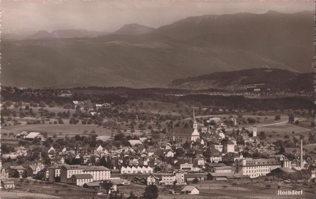 Blick auf Hochdorf von Westen mit der Lucerna im Vordergrund