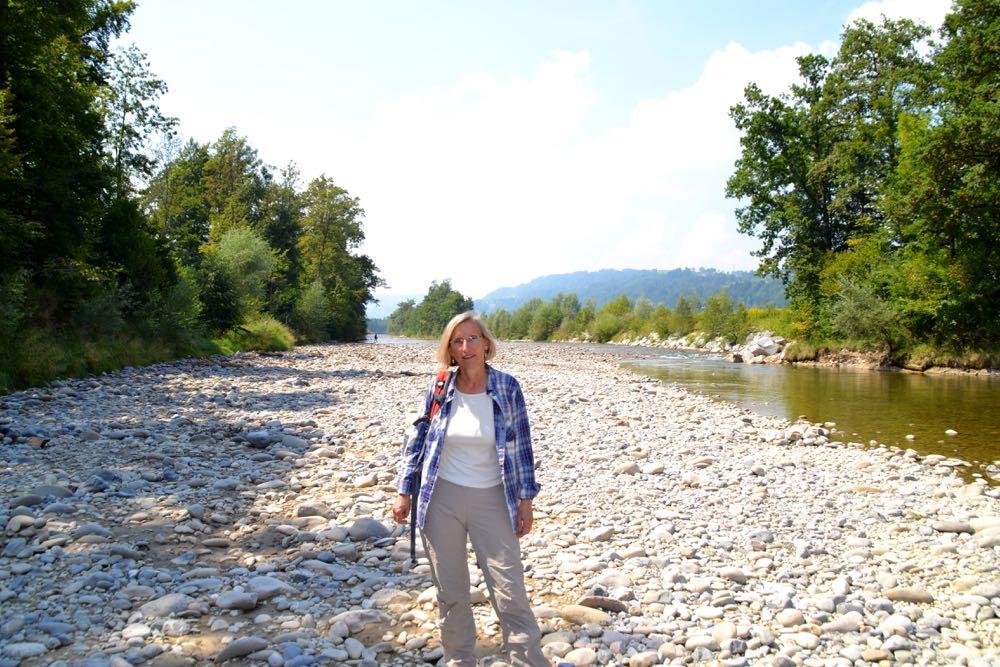 Prisca Birrer liebt einsame Landschaften –entlang der Kleinen Emme kann sie sich optimal erholen.
