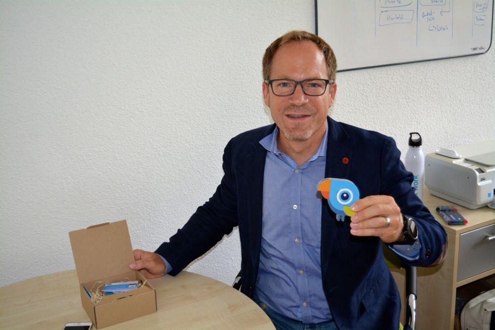 Jens Margraf, Geschäftsführer von «DIGITALnow». Der «Salesbird» ist für den Zuger Innovationspreis angemeldet.