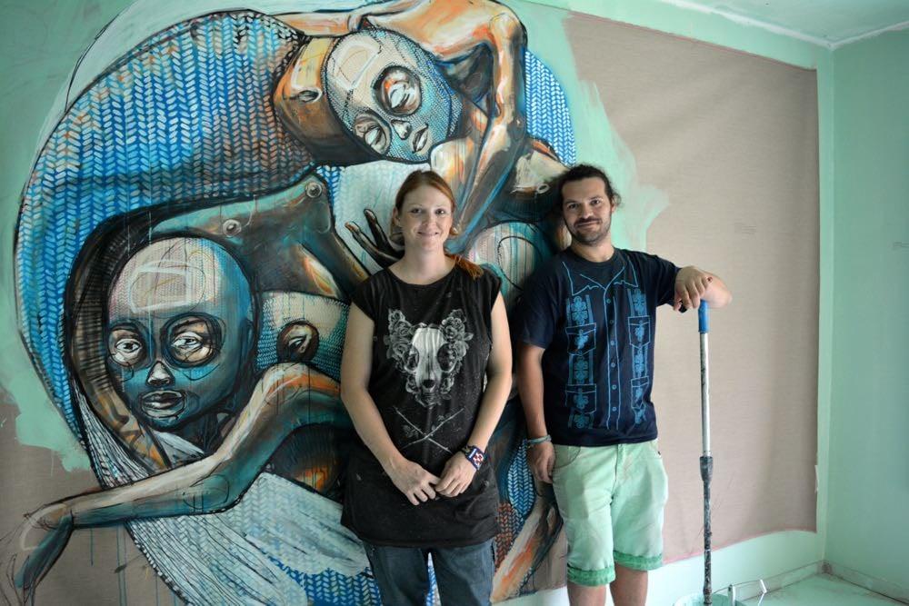 Hinter QueenKong stehen Veronika Bürgi und Marco Schmid. (Bild: azi)