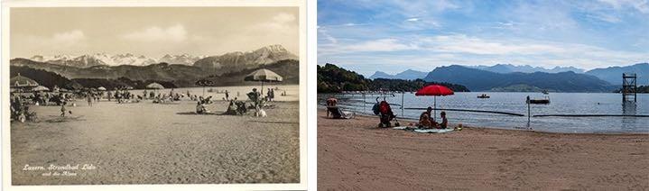 Ausser dem Sprungturm ist am Strand vom Lido alles beim Alten geblieben. (Neuaufnahme: Marc Hodel)