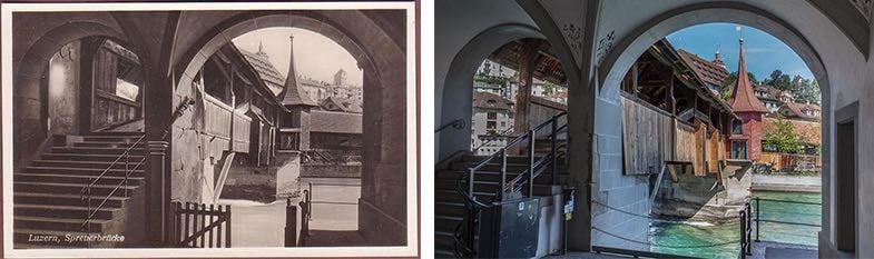 Hier ist nur auf den ersten Blick alles beim Alten geblieben: die Spreuerbrücke. (Neuaufnahme: Marc Hodel)
