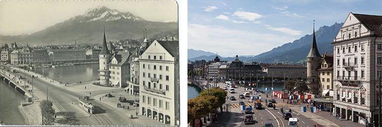 Die Seebrücke ist heute eine der meistbefahrenen Strassen im Kanton Luzern. (Neuaufnahme: Marc Hodel)