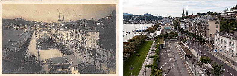 Am Schweizerhofquai hat sich die Infrastruktur verändert. (Neuaufnahme: Marc Hodel)