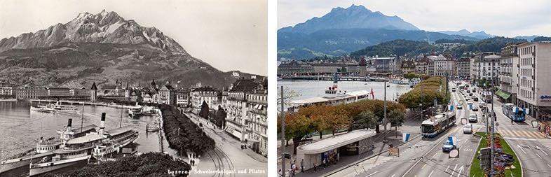 Das Schweizerhofquai und der Schwanenplatz sind heute verkehrstechnisch am Limit. (Neuaufnahme: Marc Hodel)
