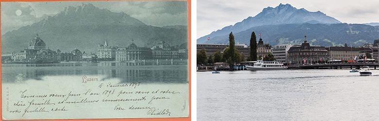 Was damals eine Postkarte wert war, hat auch heute nichts an seiner Schönheit eingebüsst. (Neuaufnahme: Marc Hodel)