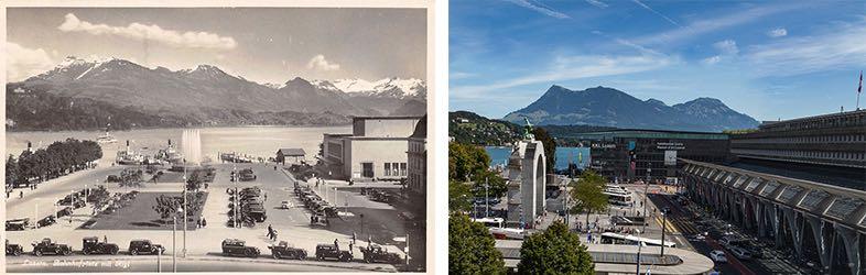 Am Bahnhofsplatz ist in den vergangenen Jahrzehnten so einiges passiert. (Neuaufnahme: Marc Hodel)