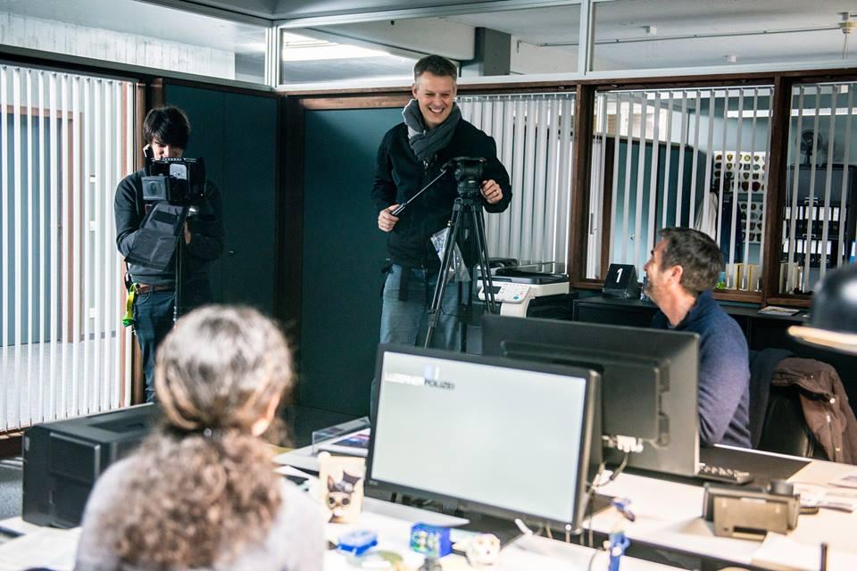 Tatort-Szenen wie diese werden in den Räumen der Emmer Viscosistadt gedreht.