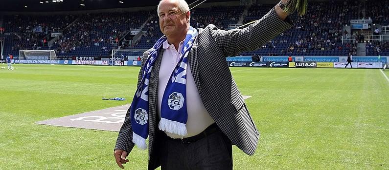 Walter Stierli bei seinem Abschied als FCL-Präsident.