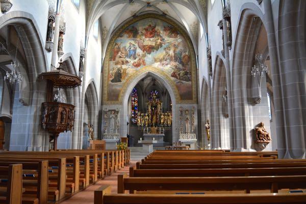 Die St.Oswald-Kirche. Ein Ort mit Ruhegarantie... Ausser, wenn der Organist gerade übt.
