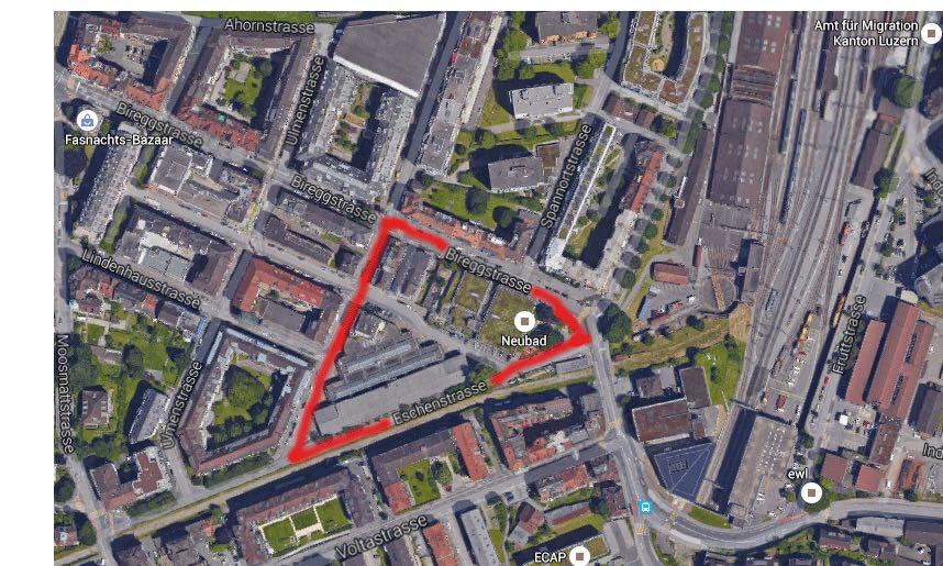 Der geplante Neubau soll sich nich nur auf das ehemalige Hallenbad beschränken - das ist der neue Plan.