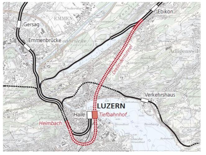 Die Variante D1 sei die beste: Durchgangsbahnhof gemäss Rahmenplan SBB.