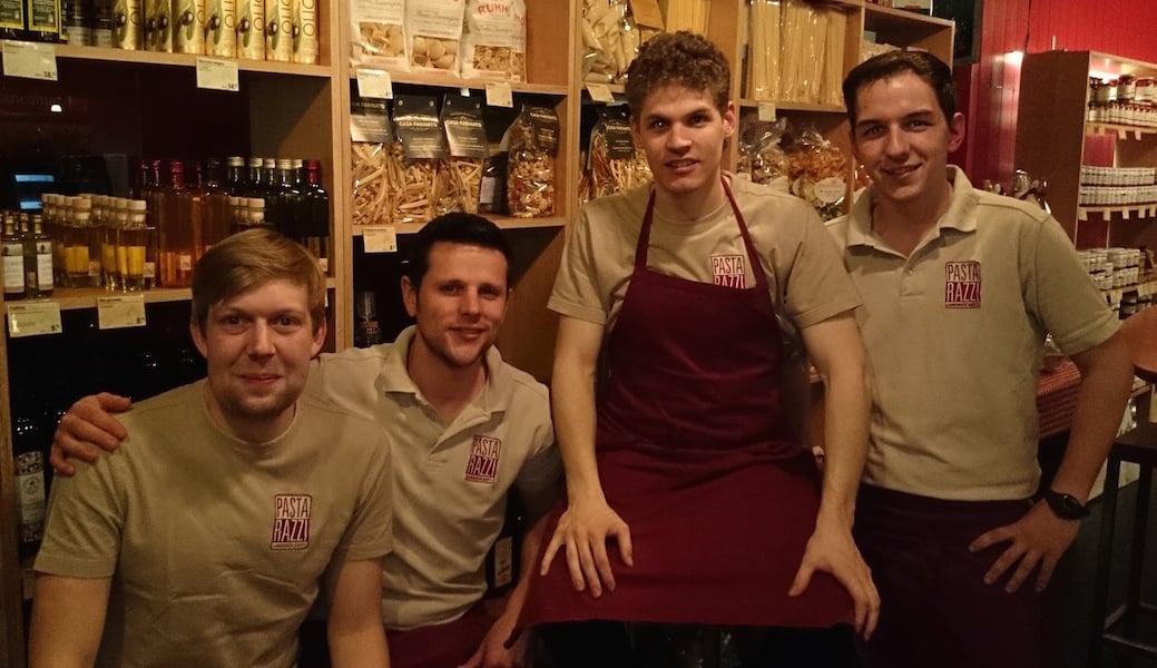 Das Pastarazzi-Team (v.l.: Kim Zumstein, Claudio Meier, Benito Omlin und Markus Hurschler) freut sich auf die neue Herausforderung.