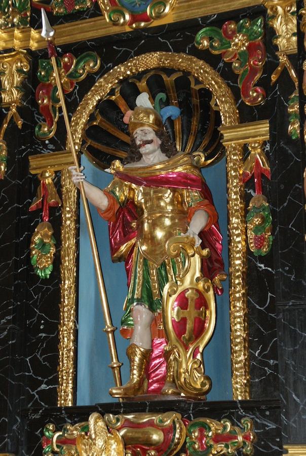 St. Mauritius in Schötz. Heilung bei offenen Beinen und schlecht heilenden Wunden.