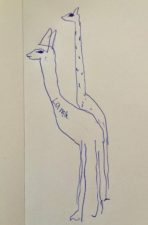 Eine Giraffe sollte es werden. Das Lama war bloss ein «Verzeichner».