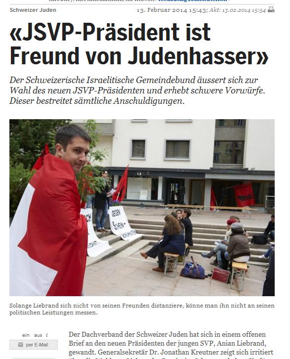 Dieser Artikel in der Zeitung 20 Minuten war der Auslöser des Streits zwischen Liebrand und dem Zürcher Juso Bührig.