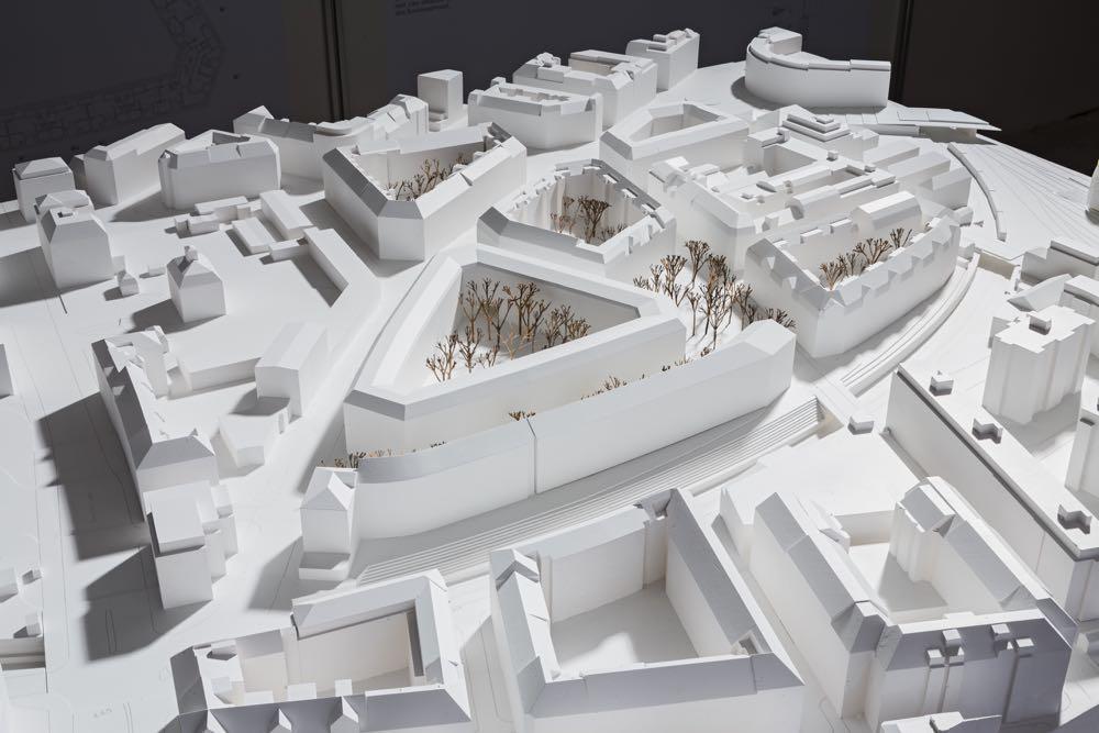 So wird das Himmelrich in Zukunft aussehen: ein Modellfoto des Siegerprojekts «Larix». (Bild: zvg)