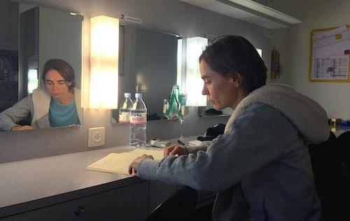Wiebke Kayser nach der Probe in der Garderobe. (Bild: jav)