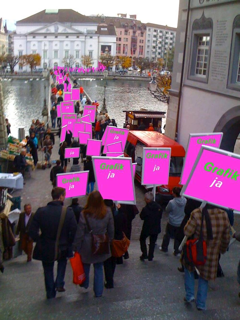 Für eine gelungene Demonstration braucht es nur den richtigen Grafiker und ein passendes Foto.