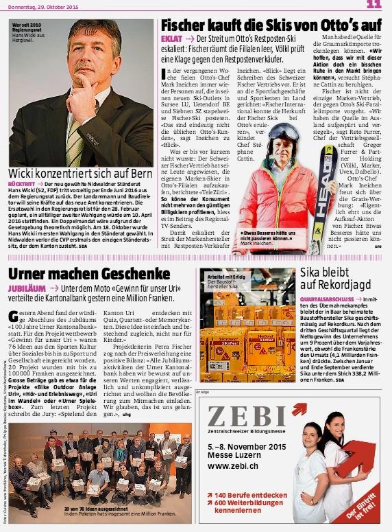 Kleine von Luzern aus recherchierte Texte sorgten im «Blick am Abend» für das regionale Flair. Es wird diese auch noch in Zukunft geben, allerdings werden sie von Zürich aus erstellt.