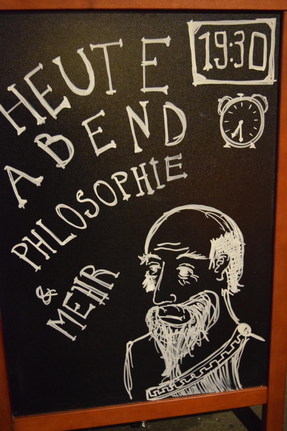 Die Metzgerhalle lud zum «Philosobieren» ein.