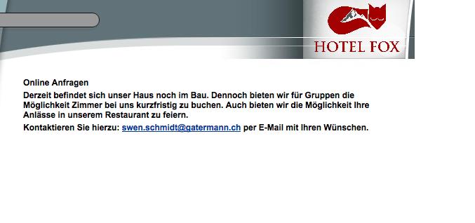 Auf der Homepage des Hotels wird dick aufgetragen.