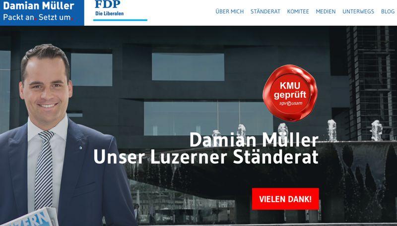 Musterschüler im Social-Web: www.damian.mueller.ch