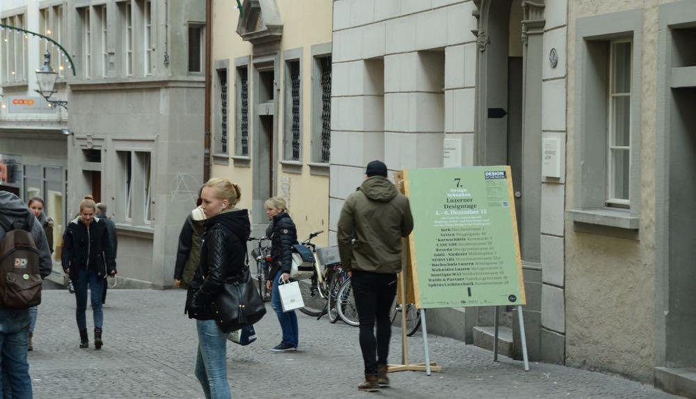 An der Rössligasse ist auch die Hochschule Luzern mit zwei Ausstellungen präsent.