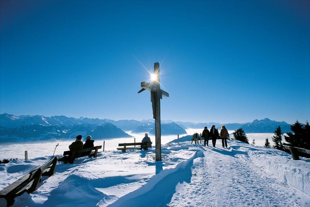Winterwanderung auf der Rigi.