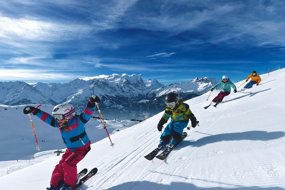 Der Hasliberg gehört mit seinen Südhängen zu den sonnigsten Skigebieten der Schweiz.