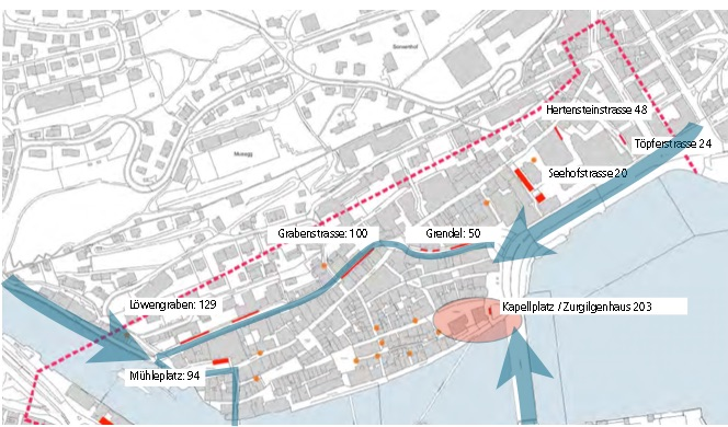So sollen sich die Veloabstellplätze in der Altstadt bis 2020 aufteilen.