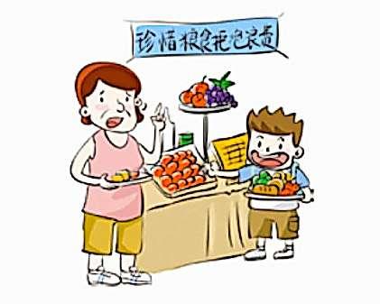 Benimmregeln auf Chinesisch: «Nur so viel auf den Teller, wie du essen kannst»
