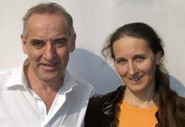 Erich Langjahr und seine Partnerin Silvia Haselbeck.