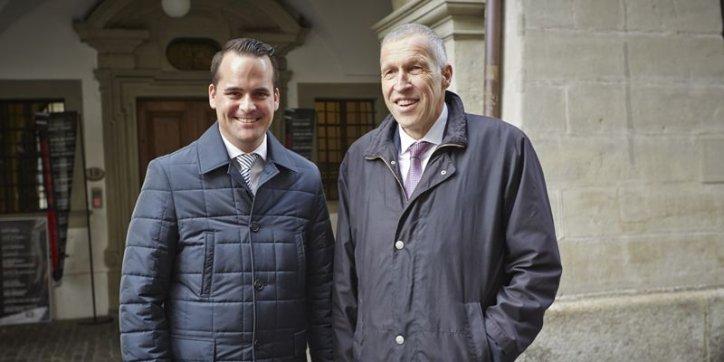 Vertreten die nächsten vier Jahre den Kanton Luzern im Stöckli: Damian Müller (l.) und Konrad Graber.
