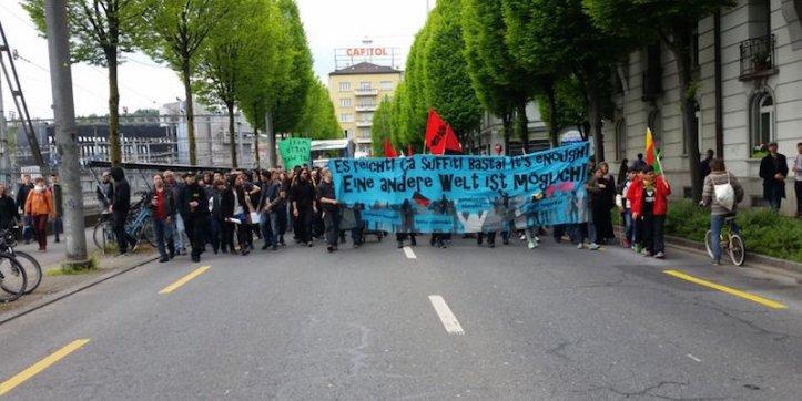 «Es reicht! Eine andere Welt ist möglich» war das Motto der Demonstration von Anfang Mai.