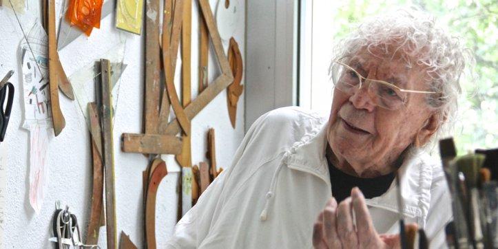 Hans Erni arbeitete auch im Alter von 106 Jahren täglich in seinem Atelier. Am 21. März verstarb er.