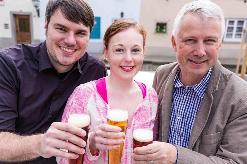 Die Gründer von Sorseer Bier: V.l. Alexander Oleschinsky, Karin Wagemann und Herbert Blum.