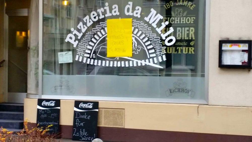 Im Dezember wurde es öffentlich: Die Pizzeria Da Milo schliesst. (Bild: lwo)