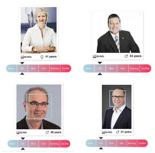 Immerhin «ok» schneiden die restlichen vier Kandidaten ab. Die einzige Frau Manuela Jost, Peter With (oben rechts), Beat Züsli (unten links) und Martin Merki.