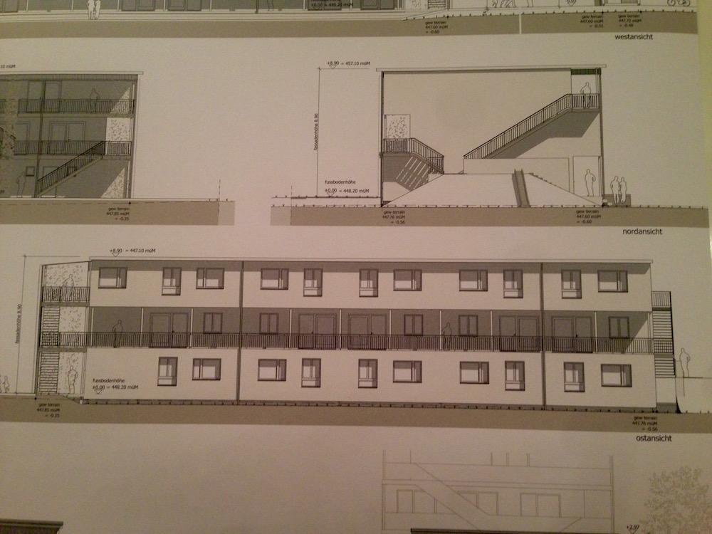 Plan des Wohngebäudes, welches aus Holzelementen erstellt werden soll.