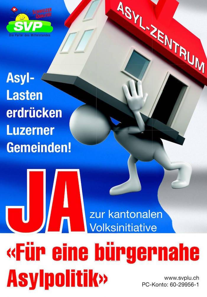 Der Wahlkampfflyer der SVP.