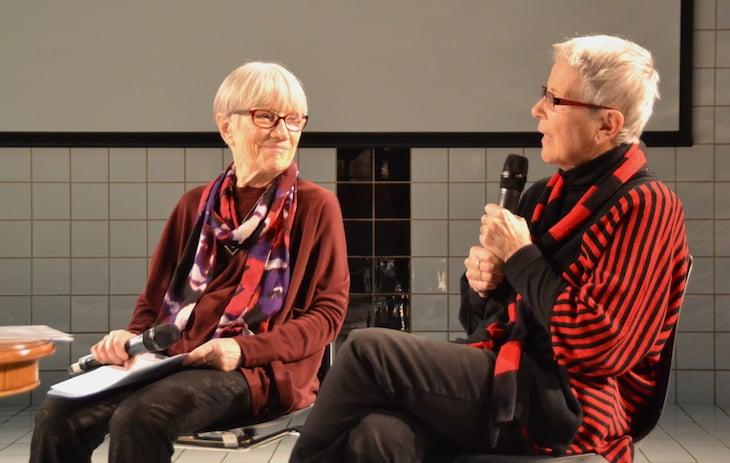 Das Paar Eva und Karin bei der Lesung (Bild: jav)