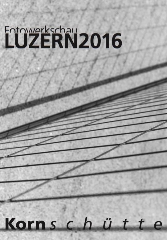 Flyer der Fotowerkstatt Luzern 2016.