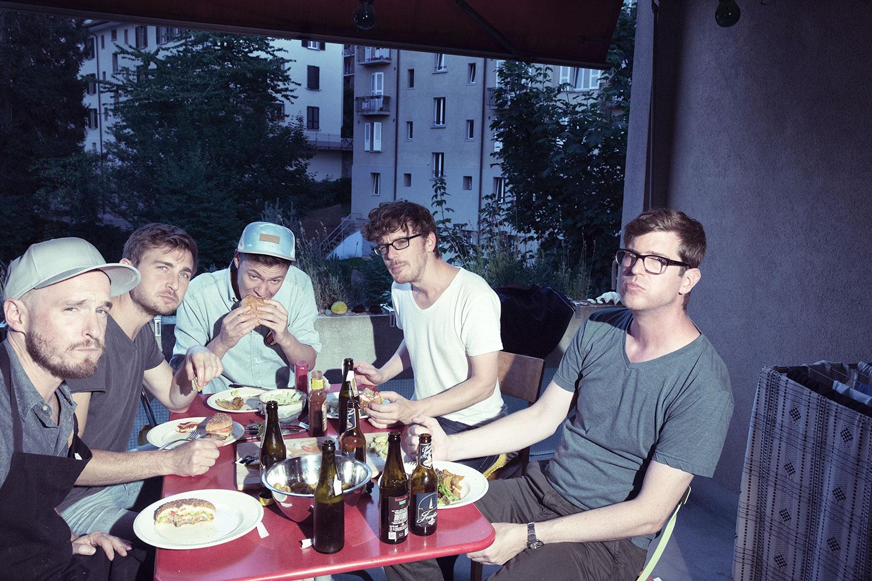 Benedikt Reising, Marc Stucki, Rico Baumann, Andreas Tschopp und Marc Unternährer sind Le Rex.