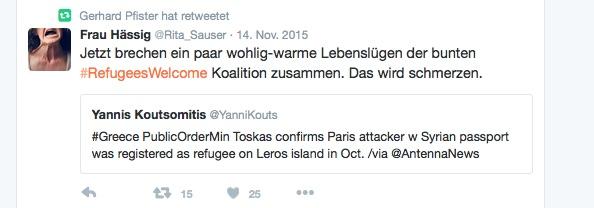 Pfister übt indirekt Kritik aus an der «Refugees Welcome»-Mentalität.
